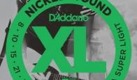 Струны для электрогитары D'ADDARIO EXL130 Extra Super Light